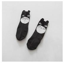 Cotton Dispensing Anti Slip Baby Socks High Quality  Knie Sokken Baby Socks Toddler Girls Boy Totoro Cartoon Tube Socks 0-4T(China (Mainland))
