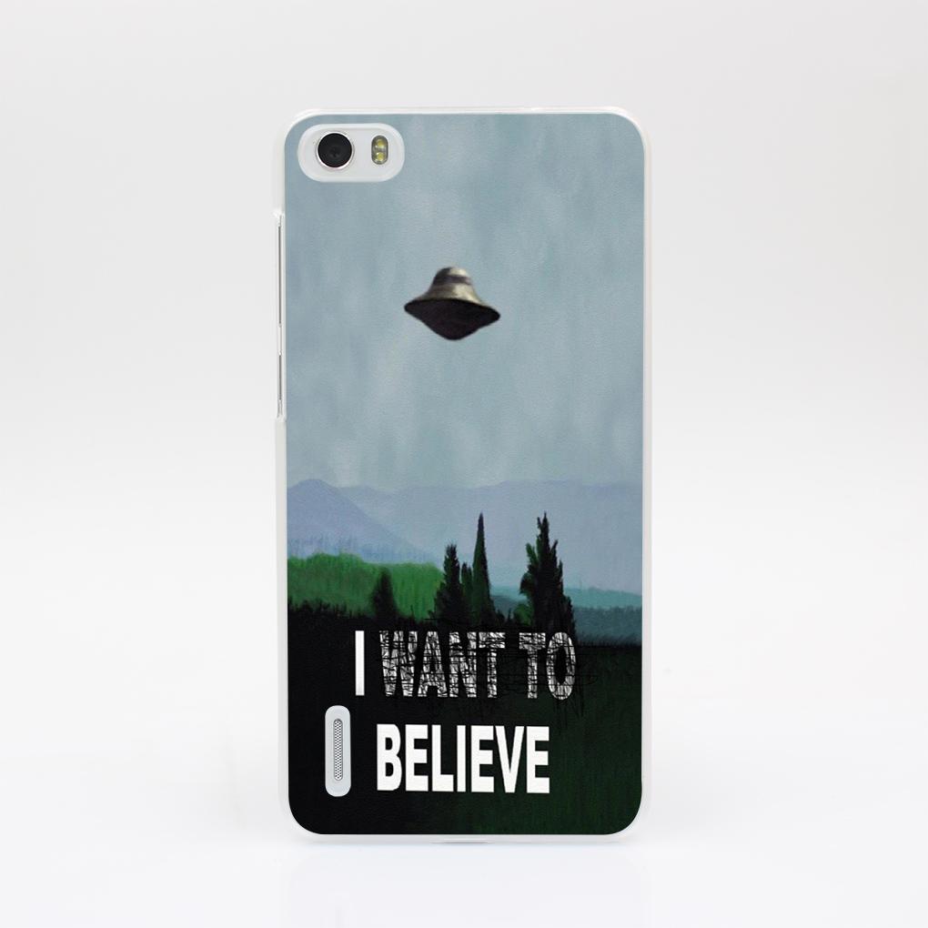 7501-OIE I Want To Believe UFO ET ufo Hard Case Cover for Huawei P6 P7 P8 Lite P9 Lite Plus & Honor 6 7 4C 4X G7(China (Mainland))