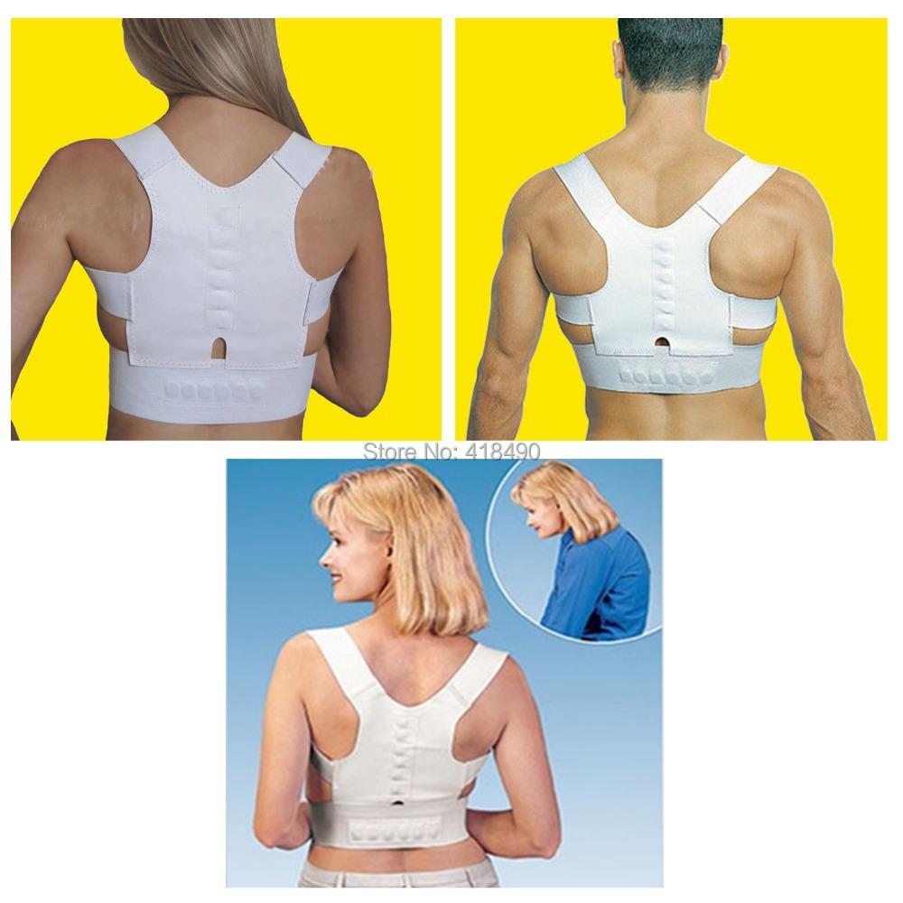 Posture Corrector Adjustable Magnetic Posture Support Body Back Pain Belt Shoulder Brace Support For Men Women Care Health(China (Mainland))