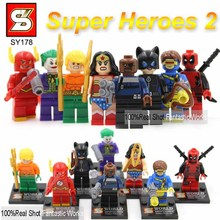 Marvel & DC SY180 Super Heroes Action Figures The Avengers Ironman spiderman Superman Batman Captain America hulk Thor Wolverine(China (Mainland))