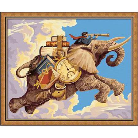 Diy digital oil painting digital colored drawing decorative painting digital painting hand oil painting traveler 40 50
