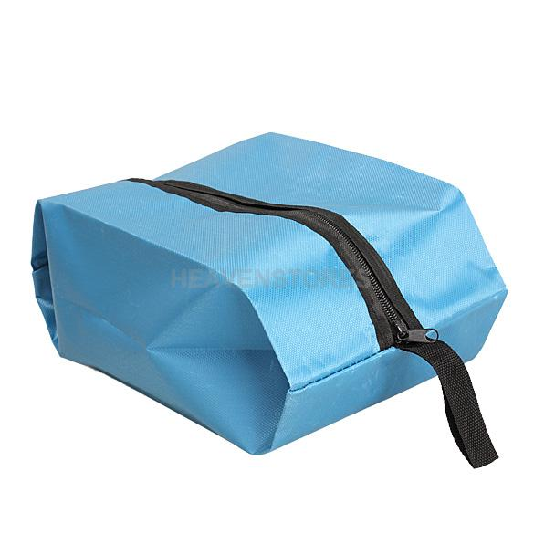 Nylon Oxford Waterproof Shoes Bag Travel Outdoor Storage Tote Dust Bag Blue hv3n(China (Mainland))