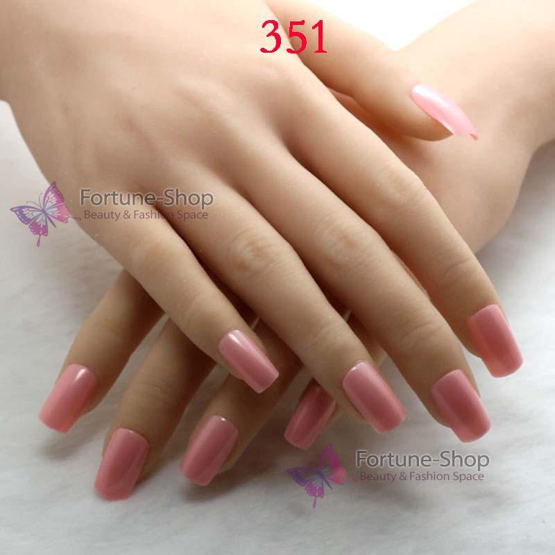 24pc set Acrylic Nail Art Tips Fake Nails Free Glue Half False Artificial Nails With Designs Free Double Side Adhesive Tape 351(China (Mainland))