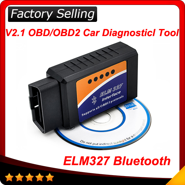 2015 elm327 bluetooth ELM 327 Interface OBD2 OBD II Auto Car Diagnostic Scanner OBDII Android(China (Mainland))