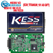 Highest quality KESS V2  Latest V2.23 FW V4.036 OBD2 Tuning Kit NoToken Limit Kess V2 Master Master version free ship(China (Mainland))