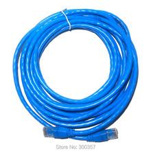 10m cat 6 network cord  support Gigabit ethernet copper material BLUE color RJ45 patch lan cable
