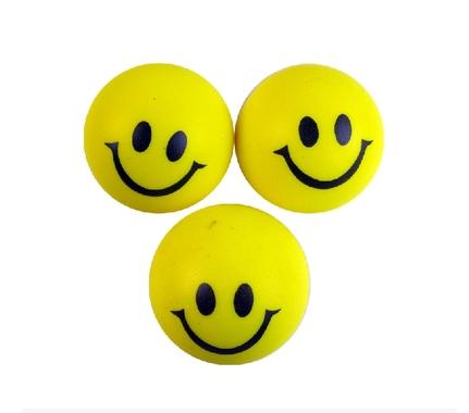 Super Cute Children Sponge Tennis/Squash Sponge Children / Child Mini Tennis Ball Smiley Face Ball Toys(China (Mainland))