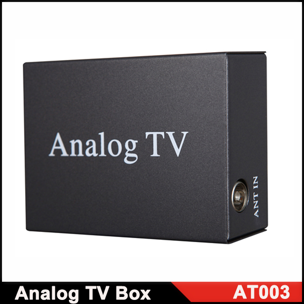 Universal car Analog TV BOX High Speed Car TV Tuners with Remote Control Black Color(China (Mainland))