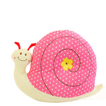 Cute plush cartoon snails Pillow car pillow cushion cushion for leaning on is acted the role of household birthday gift