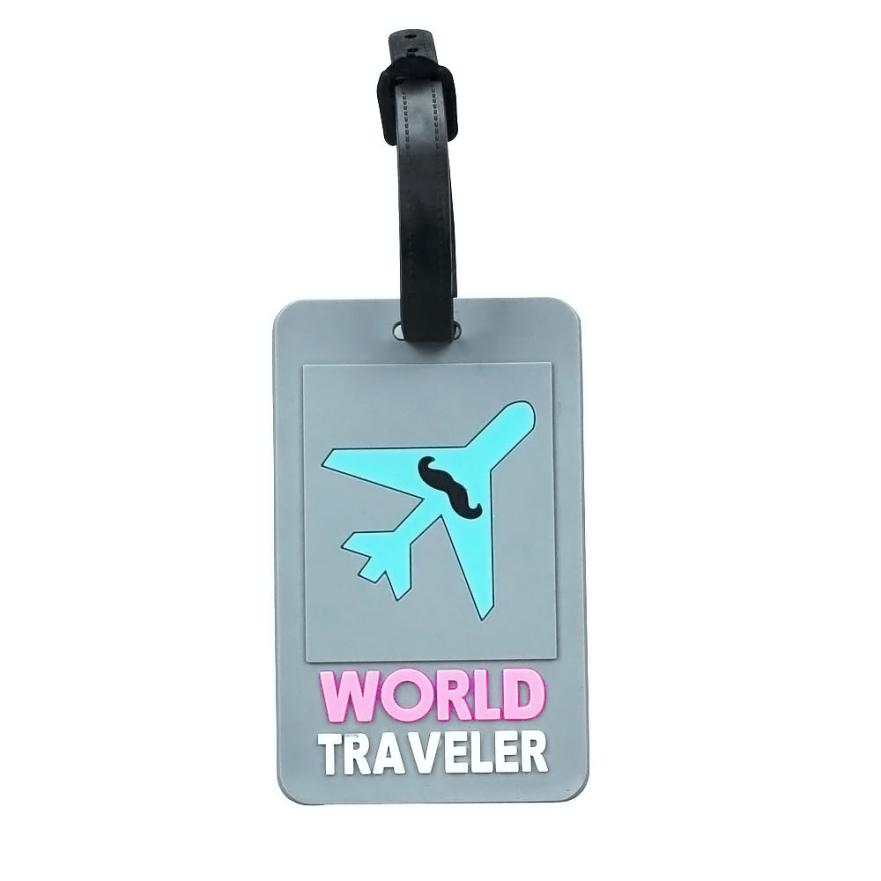 Cute 3D Cartoon Novelty Rubber Funky Travel Luggage Label Straps Suitcase Luggage Tags Free Shipping(China (Mainland))