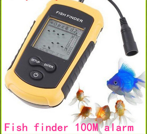 Portable Fish Finder Depth Sonar Sounder Alarm Transducer Fishfinder 100m Deep Ice Fishing Boating Bait Tool(China (Mainland))