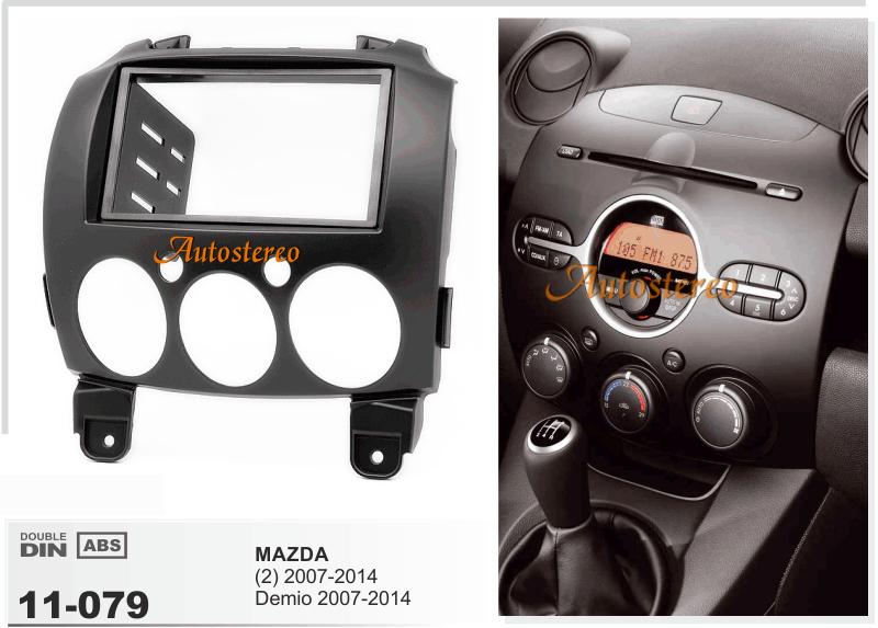 Car Radio Fascia For Mazda  2  Demio 2007 2014 Facia Plate
