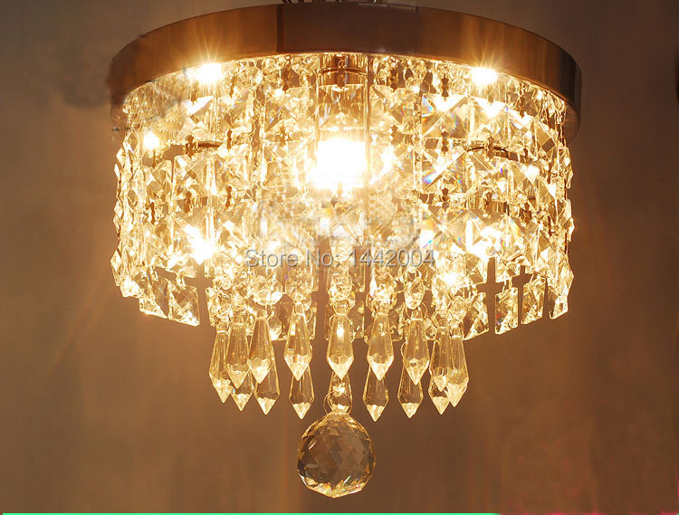Фотография free shipping modern crystal ceiling light mini lamp for  front balcony porch surface mounted  aisle lights