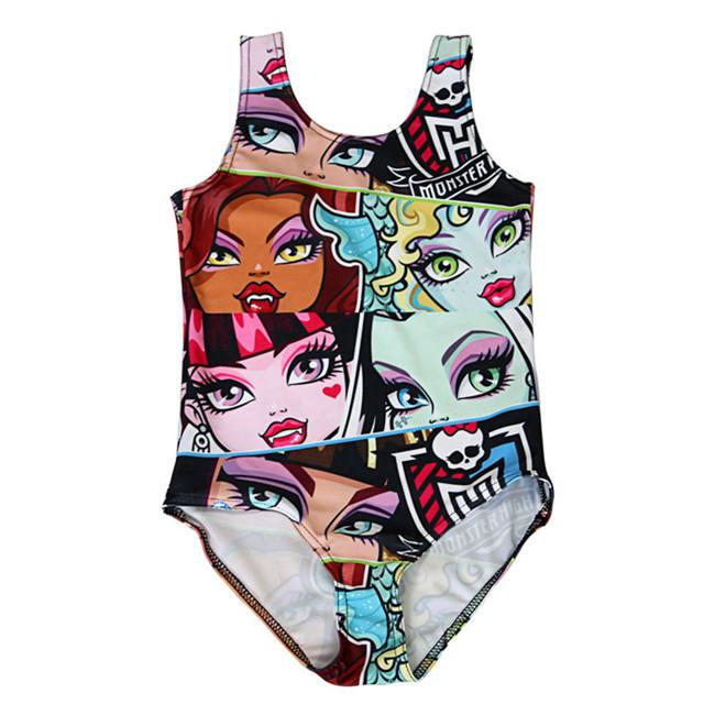 New 2015 Brand Summer Style 3-8Y Girls Swimwear One Piece Children Swimsuit Kids Beach Wear Bathing Suit For Baby Girls SW257(China (Mainland))