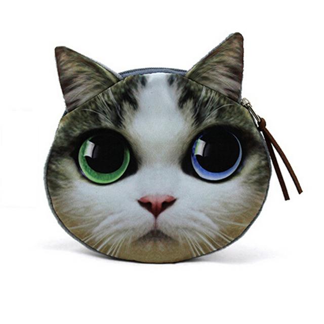 Мода портмоне изменения кошельки кошка хорошенький портмоне сумки женские кошельки. ...