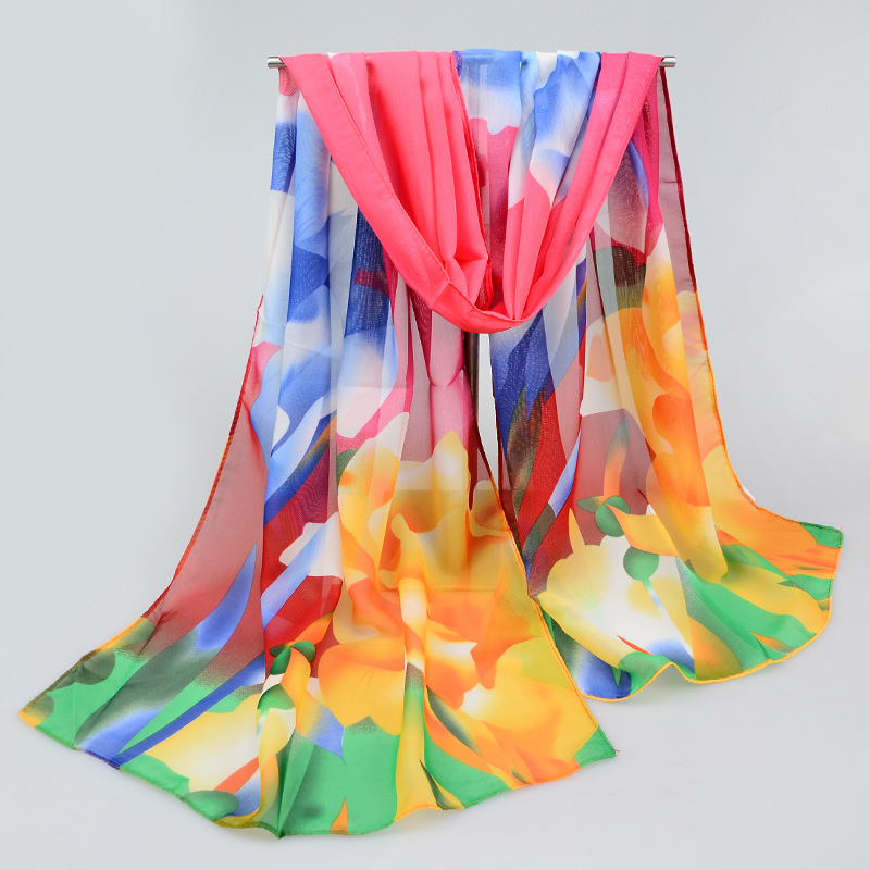 2016 New Women Chiffon Silk Scarfs Fashion Spring Square Scarves Print Shawl Summer Brand Shawls And Hijabs(China (Mainland))