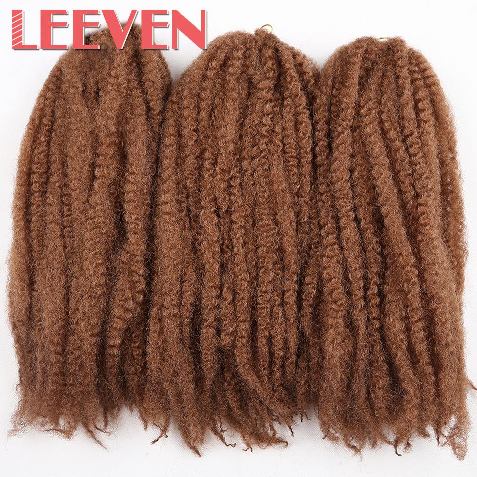 Leeven 18'' 100g 20strands synthetic braiding hair Afro Kinky Twist Crochet Braid DIY Hair Extension High Temperature Fiber(China (Mainland))