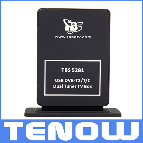 TBS5281 DVB-T2 Twin Tuner TV Box Watching and Recording Freeview SD/HD TV on PC(China (Mainland))