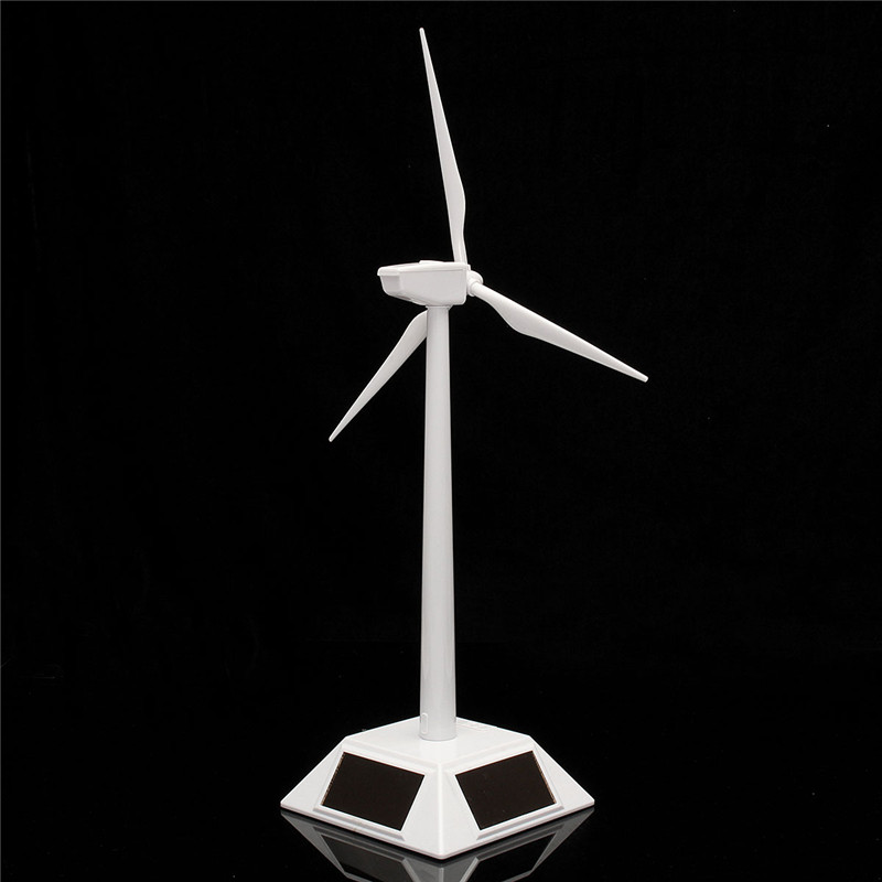 New Arrival Desktop Model-Solar Powered Windmills/Wind Turbine&ABS Plastics Science Toy 11X11X38cm Promotion(China (Mainland))
