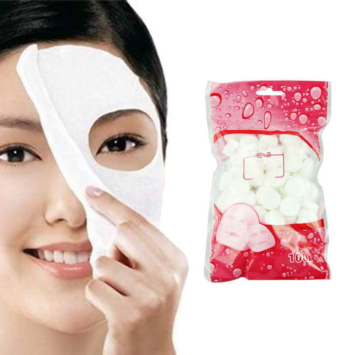 Beauty Girl Hot 100pcs Skin Care DIY Facial Face Compressed Mask Paper Tablet Masque Treatment Free Shipping Oct 28(China (Mainland))