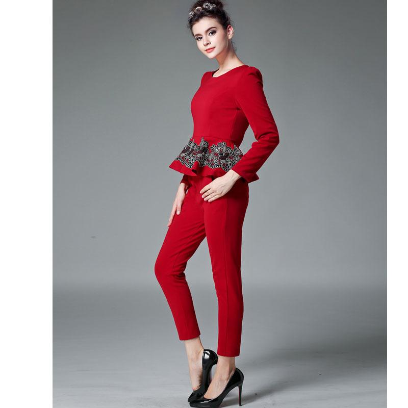 Unique Women Straight Pants Plus Size Pants Women 2016 New Fashion OL Suit