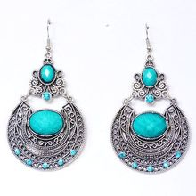 CCE193  European Designer Popular Vintage Crystal Palace Carved Hollow Boho Earrings(China (Mainland))