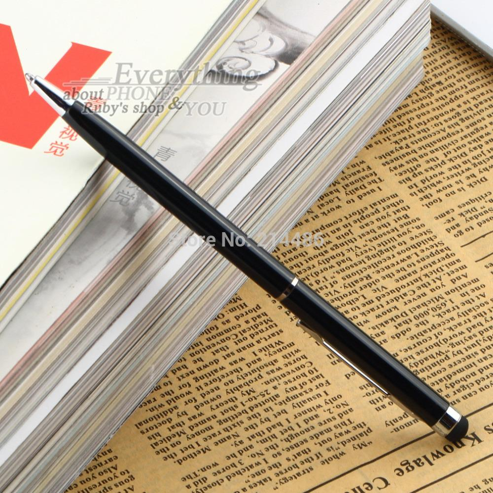 1pcs 2 in 1 Capacitive Touch Screen Stylus with Ball Point Pen for PDA Phone(China (Mainland))
