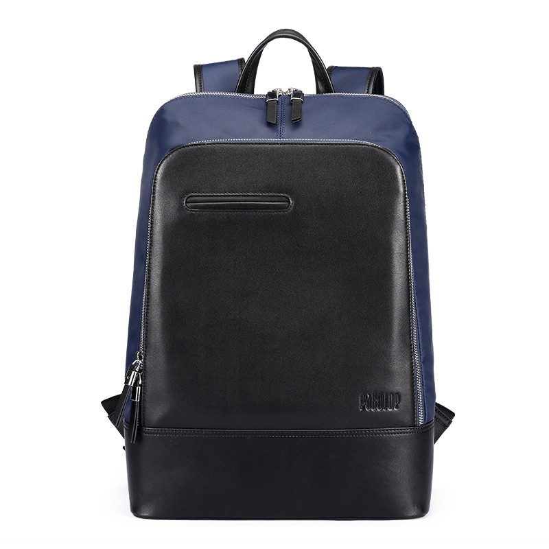Backpack male fashion stitching leather casual mens large capacity waterproof BB044<br><br>Aliexpress