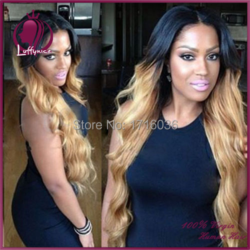1B/27 lace front ombre wig human hair ombre lace wig virgin hair 130density full lace human hair wigs ombre wigs for black women