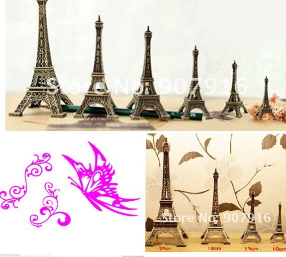 wholesale retail high 15cm metal craft arts 3D Eiffel Tower model French france souvenir paris home decoration gift desk office