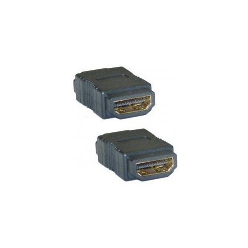 WSFS Hot Sale 4cm long 2cm wide 1cm high Gold Hdmi F/F Female Gender Changer Adapter Coupler(China (Mainland))