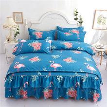 2019 New Printing Comforter Bedding Sets Family Set Bed Skirt Sheet Microfiber Bedclothes Bedspread Duvet Cover Pillowcase 4pcs(China)