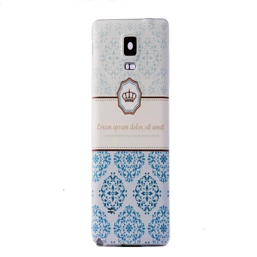 3D cameo Samsung galaxy note 4 case N9100 Relief painted Eiffel Tower flower pattern Battery back Cover cell phone - YUN-DA Technology Co.,Ltd store