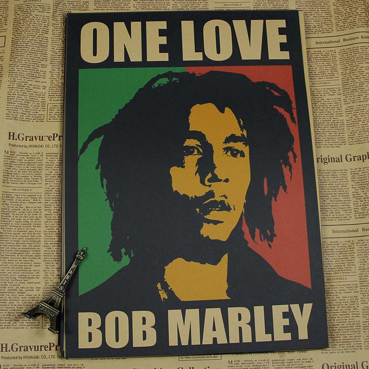 Vintage Poster Bob Marley Retro Nostalgic Old Reggae Rock Poster