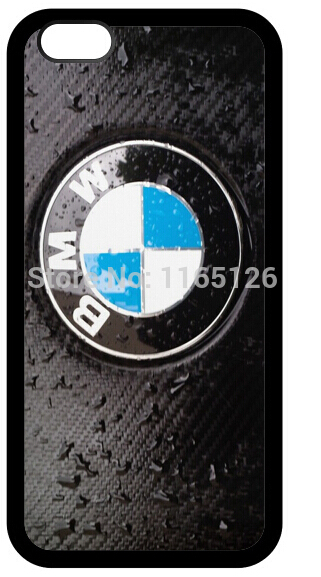 Cool Logo Pattern For black - wet - bmw rubber mobile phone cover case for iphone 4 4s 5 5s 5c 6 and 6 plus(China (Mainland))