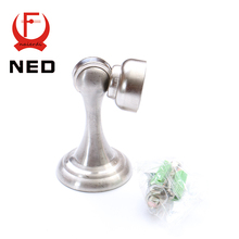 NED Newest Stainless Steel Magnetic Sliver Door Stop Stopper Holder Catch Floor Fitting With Screws For Bedroom Family Home Etc(China (Mainland))