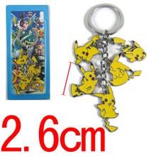 Pokemon toy figures Pikachu Keychains Key Chains Pendants jewelry Pocket Monsters keyring kids toys Christmas Gifts
