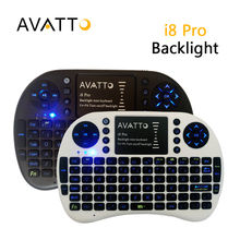 AVATTO i8 PRO LED Backlight 2.4G Wireless Game Mini Keyboard Touch Pad Backlit Air Mouse For Ipad/TV Box/Smart TV/Laptop Gamer(China (Mainland))