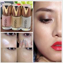 Brand Makeup 3 Color Shimmer Exquisite Concealer Highlighter Liquid Brightener Maquiagens Highlight Concealer Face Bronzer(China (Mainland))