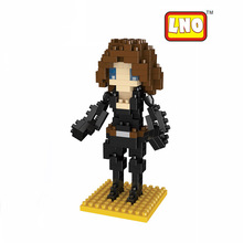 Black Widow Action Figures The Avengers Model Anime Cartoon Characters Toys Best Gift For Children and Adult Mini Blocks