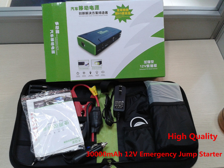2014 New Arrival Hot-selling Truck 12V Car Jump Starter 30000mAh Emergency jump start for 12V auto mobile charger MP3 Power Bank(China (Mainland))