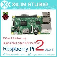 Бесплатная доставка! 2015 новый Pi 2 модель B четырехъядерный процессор, 1 ГБ оперативной памяти, Bcm2836 900 мГц рука, 6 раз быстрее , чем B +