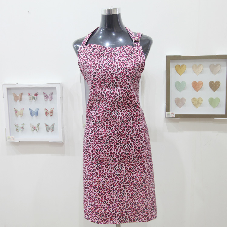 Wholesale - High quality cotton Leopard printing Kitchen cooking , baking Apron(China (Mainland))