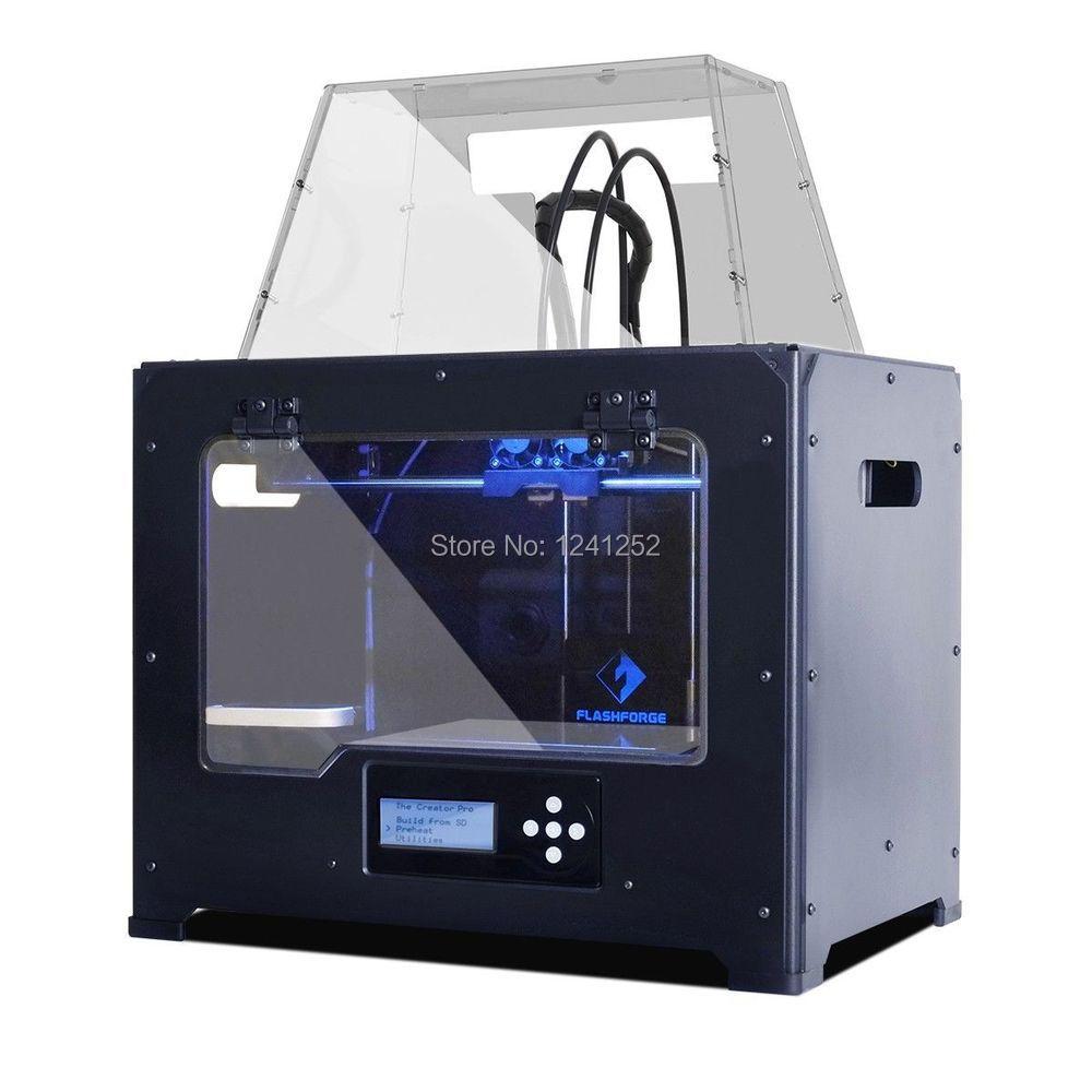 flashforge creator pro 3d printer kit 3d machine dual nozzle