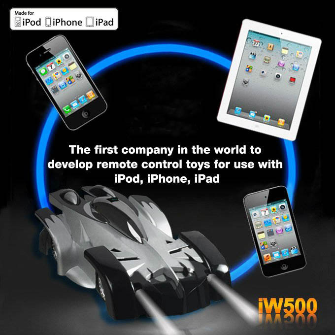 (Clearance Sale: FREE SHIPPING)-5pcs/lot Cool Wecan IW500 Wall Climbing rc car Controlled by iPhone/iPad(China (Mainland))