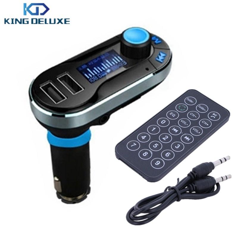 Sliver Handsfree Smartphone Bluetooth MP3 Player Car Kit + Dual USB Charger + FM Transmitter + Micro TF SD Card Reader B06-3-Q(China (Mainland))