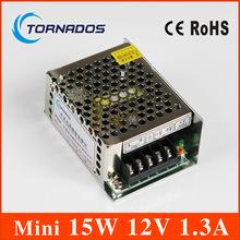 Один выход мини размера импульсный источник питания мс-15-12 15 Вт 12 В 1.3A ac dc конвертер мини из светодиодов драйвер