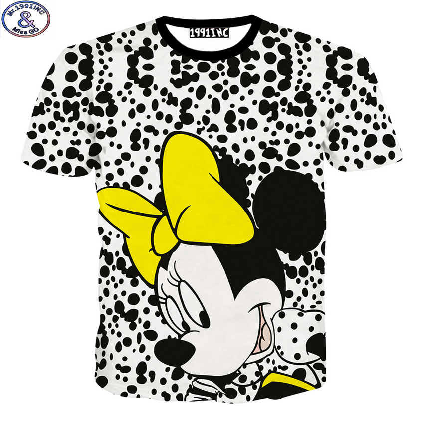 Mr.1991 summer style funny cartoon mouse 3D printed kids boys t-shirt for girls clothing 11-20 years teens tops tees DT14(China (Mainland))
