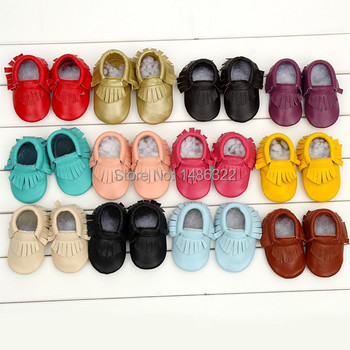 New Style Baby Moccasins Soft Moccs Baby Shoes Newborn Baby Prewalker Anti-slip Genuine Cow Leather Infant Shoes Footwear