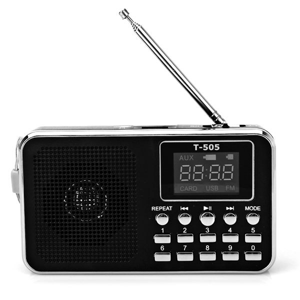 40 OFF Universal Home Stereo Speaker Mini Portable Radio TF Card Speaker FM Radio Digital Speaker